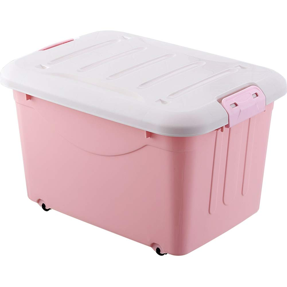 Pink 100L1 ZHANGQIANG Storage Basket Laundry Basket Large Storage Bins Organizer with Handle, Collapsible Cube Basket Container Box for Closet (color   Green, Size   40L1)