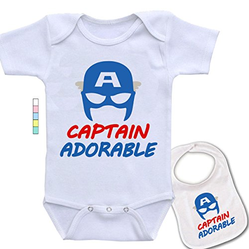 Captain Adorable-Cute Captain America Marvel Comics Baby Bodysuit Onesie & -