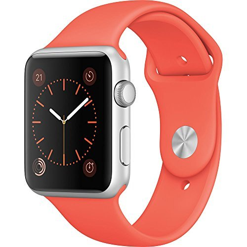 Apple Mmfl2ll A Watch Sport 42Mm Silver Color Aluminum With Apricot Sport Band