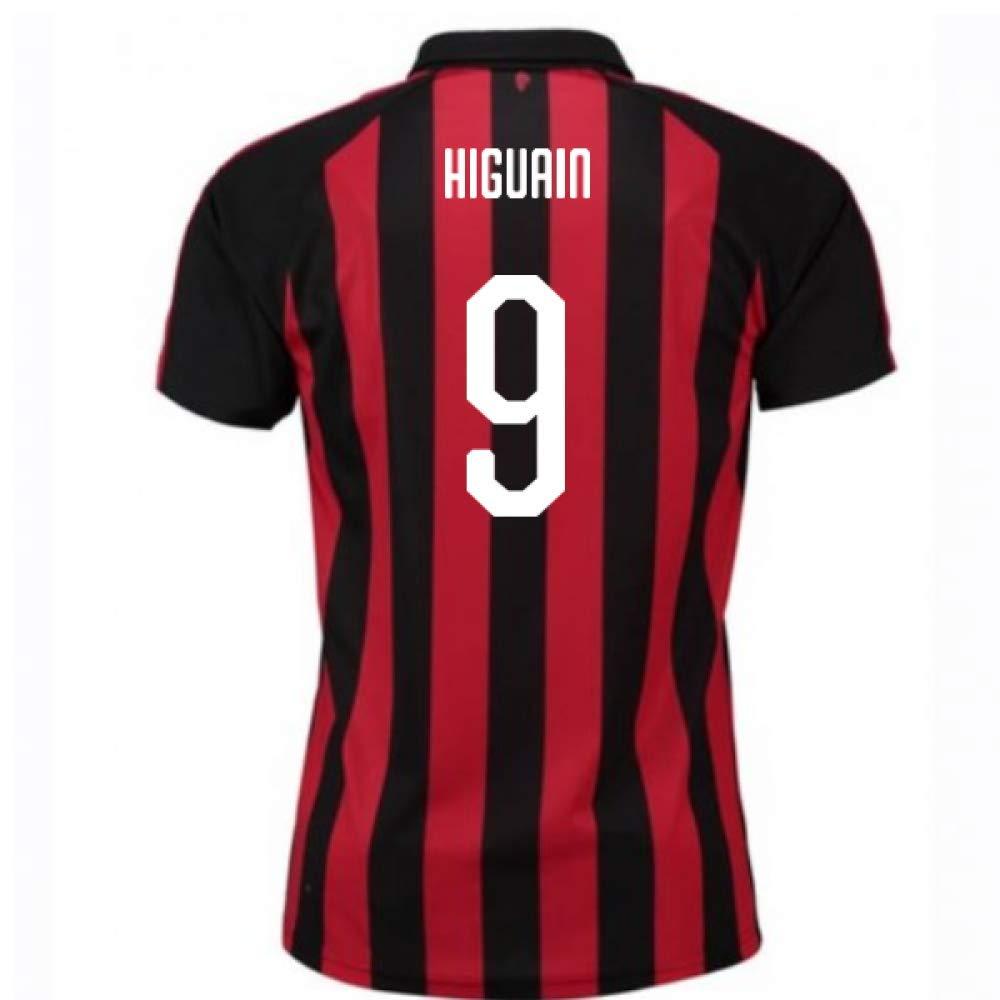 2018-2019 AC Milan Puma Home Football Soccer T-Shirt Trikot (Gonzalo Higuain 9)