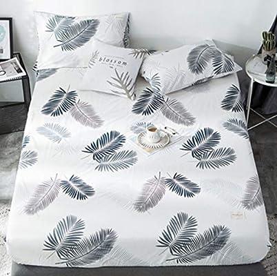 AJCAW Cama Sábana de algodón básica Funda de colchón de una Pieza Paquete Completo Ajustable a principios del Verano 200 X 200 cm: Amazon.es: Hogar
