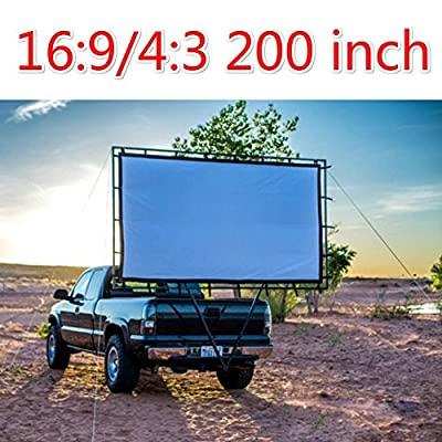 16:9 200 Inches Matt White Projector 3D Movie Screen Foldable Portable For HD 3D Home Theater Projector
