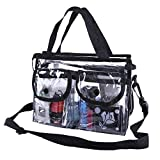 "Best Bags For Less Makeup Travel Bags - Premium Clear Makeup Organizer PVC Toiletry Bag 10"" Review"
