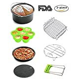 Air Fryer Accessories 7pcs 7inch for Growise Phillips Cozyna Fit all Air Fryer 3.7QT 4.2QT 5.3QT 5.8QT