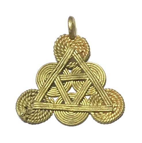 African tribal handmade brass pendant - jewelry making (African Brass Pendant)