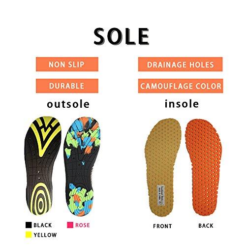 Winjoy Männer Frauen Wasser Schuhe Multifunktionale Barfuß Schuhe Quick Dry Beach Schuhe Mit Entwässerung Löcher Gelb