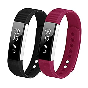 Bands for Fitbit Alta/Fitbit Alta HR, Hanlesi TPU Soft Silicone Adjustable  Replacement Sport Strap Band for Fitbit Alta 2 Smartwatch Heart Rate