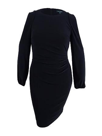 b95ef725928 Amazon.com  Lauren by Ralph Lauren Women s Jersey Cold-Shoulder Sheath Dress  (16
