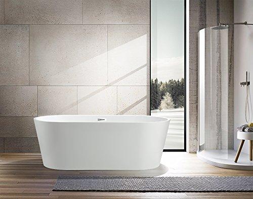 (Vanity Art Freestanding Acrylic Bathtub Dimension: 59¡±W x 29.5¡±D x 24¡±H VA6815-S )