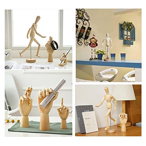 Wooden Drawing Mannequin Wood Artist Figure Doll Model Manikin with