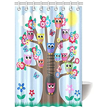 Amazon.com: InterestPrint Funny Owl Home Decor Cute Owls on Tree ...