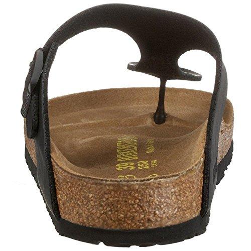 Birkenstock Gizeh Nero Gum Donna Pelle Sandals