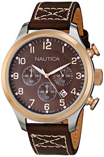 Nautica N17648G Classic Leather Chronograph