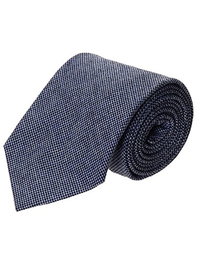(FLATSEVEN Mens Casual Woven Houndstooth Check Pattern Tie (YA016) Blue)
