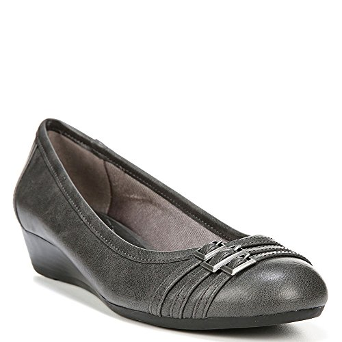 Lifestride Womens Pump Farrow Wedge Sintetico Grigio Scuro