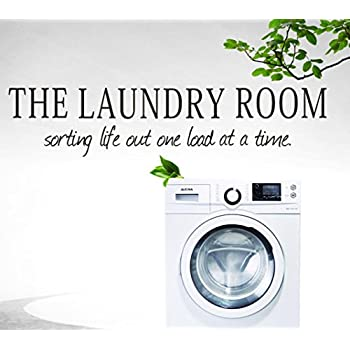 popular items laundry room decor throughout usstore the laundry room quote removable wall stickers nursery family home room decor decoration vinyl art amazoncom
