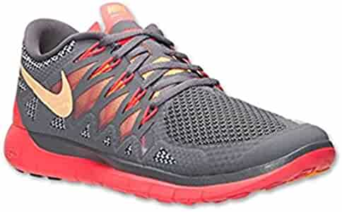 best website 8826a 0162b Amazon.com   Nike Free 5.0 Women s Running Shoes Size 5 Grey, Mango,  Crimson   Running
