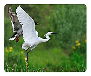 Little Egret Mouse Pad Desktop Mousepad Laptop Mousepads Comfortable Computer Mouse Mat Cute Gaming Mouse pad by icecream design