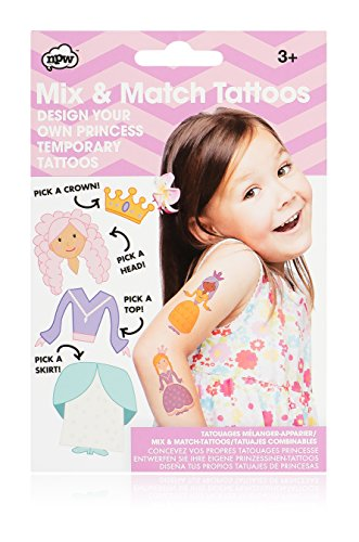 [NPW-USA Mix & Match Princess Temporary Tattoos] (Tattoos Of Princess Crowns)