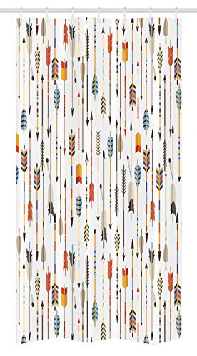 - Ambesonne Arrows Stall Shower Curtain, Colorful Indian Arrows Native American Style Graphic Artwork For Hunters, Fabric Bathroom Decor Set with Hooks 36 W x 72 L Inches, Tan Orange and Blue