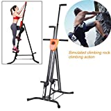 Vertical Climber Fitness Climbing Machine -Digital Display Foldable Vertical Climber Climbing Machine