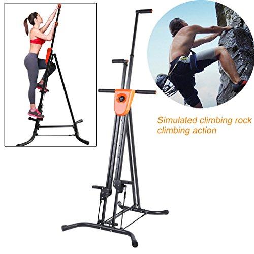 Vertical Climber Fitness Climbing Machine -Digital Display Foldable Vertical Climber Climbing Machine by Graspwind