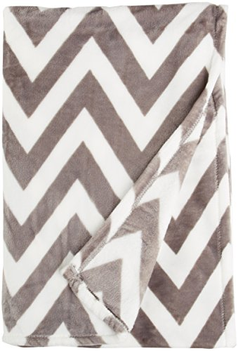 Northpoint Ruya Oversized Printed Velvet Plush Throw Blanket, 50 by 70-Inch, (Microplush Throw)