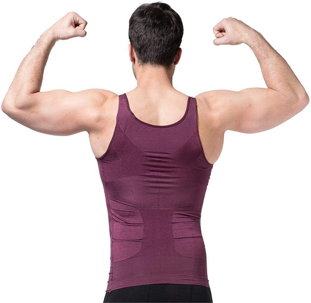 Chaleco para Hombre Ropa Interior de Efecto Adelgazante El/ástico y Formar para el Vientre y la P/érdida de Peso y Grasa Ducomi Bodyslim Previene el Dolor de Espalda y Lumbares