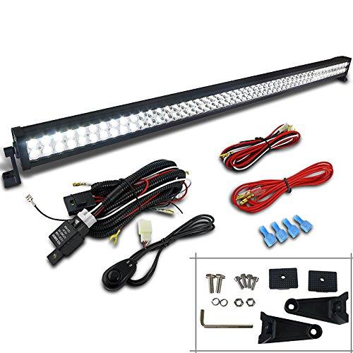 (Spec-D Tuning LF-5996LGX1 Fog Light (Flood Spot Beam Off Road LED Work Bar Wiring Switch Kit))