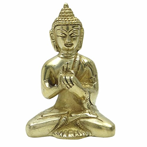 Home Decor Handmade Buddha Brass Statue Religious Figurine Sculpture Table (Rustic Heart Table D Cor)