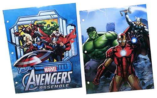Marvel Avengers Assemble 2-Pocket Portfolio Folder Set of 2 (Comics Marvel Folder)