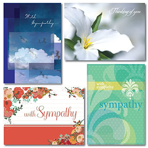 Sympathy Greeting Card Assortment. Seven each of four contemporary designs. Since condolences to family, friends and business associates.