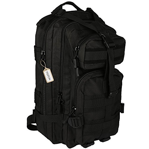 Shelure Tactical Backpack Camping Bags Waterproof Molle System Backpack Military 3P Tad Assault Travel Bag for Men Cordura 30L 40L (30L Black)