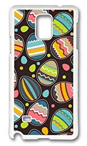 MOKSHOP Adorable Chocolate Eggs Hard Case Protective Shell Cell Phone Cover For Samsung Galaxy Note 4 - PC White