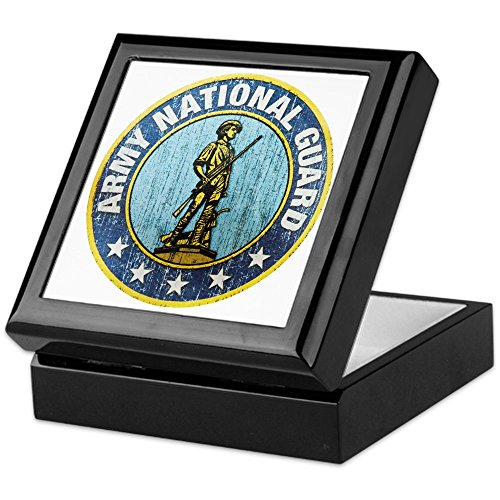 Keepsake Box Black Army National Guard Emblem