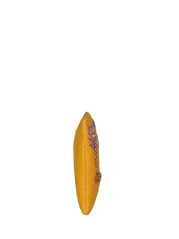 Cashhimi Colorado Genuine Python Clutch