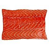CafePress - Piece Of Big Salmon Fillet Over White - Standard Size Pillow Case, 20''x30'' Pillow Cover, Unique Pillow Slip