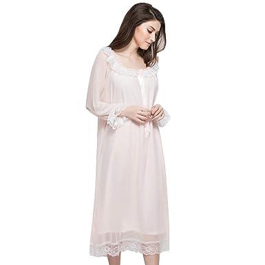 Albornoz para Mujer de algodón Hilado de Encaje Traje Suelto más ...