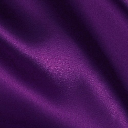 Stretch Charmeuse Satin Purple Fabric By The Yard
