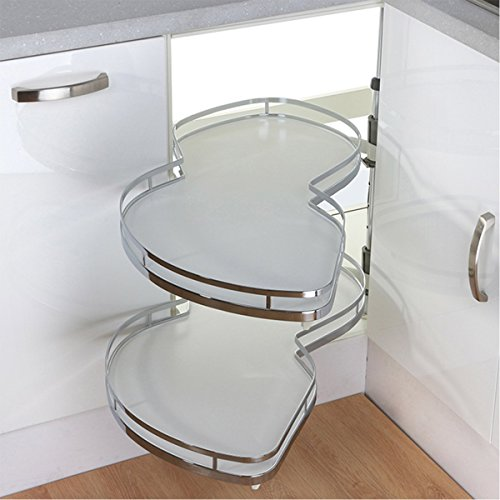 VADANIA Kitchen Cabinet Blind Corner Pullout Organizer, Swing Tray, Soft Close, 2 Tiers, Left Handed ()