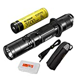 Nitecore MH12GTS 1800 Lumen Long Throw USB Rechargeable Flashlight with High Performance Battery & LumenTac Organizer For Sale