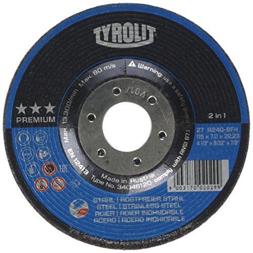 Tyrolit 34046120 Schruppscheibe 27E, Abmessung 115x7x22,23,VE: 10 Stück
