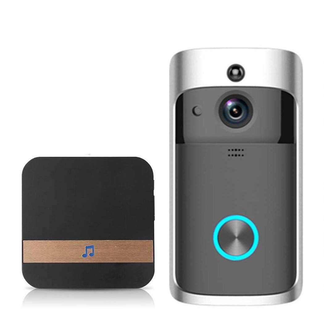 Queind Video Wireless Doorbell WiFi HD Home Security M3 Low Power with Wireless Ding-dong Kits