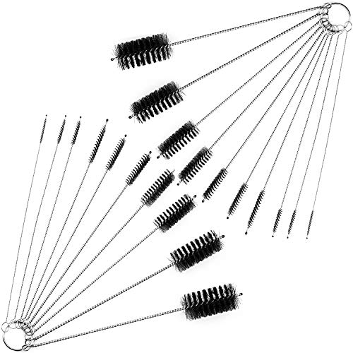 8 Inch Cleaning Brush Straw Pipe Cleaner Brushes Set, 20 PCS