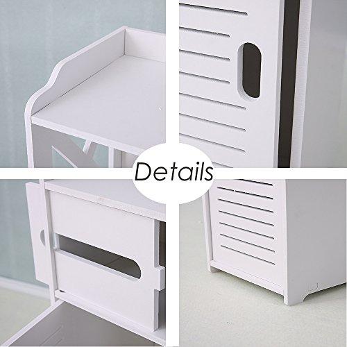 Bathroom Cabinet, Fresh Household Mini Bathroom Shelf to Storage Tissue Dispensers Organizer Rack by Fresh Household (Image #4)