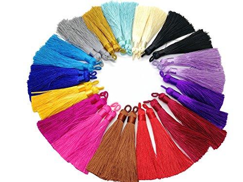 PAMIR TONG 9cm Chinese Knot Tassels Handmade Rayon Silk Tassels Jewelry Supplies 15 Pairs/30pcs GD202