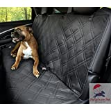 "Non-Slip Backing Wide Bench Hammock Car Seat Protector. Machine Washable & A Lifelong Promise. 57""L x 55""W. Available in Black, Blue & Black Removable Zipper."