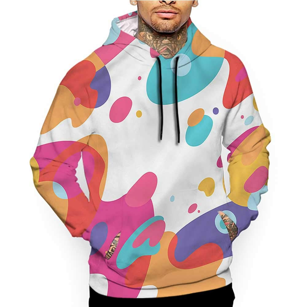 Hoodies Sweatshirt/Autumn Winter Abstract,Ombre Style Round Shapes,Sweatshirts for Women Hanes