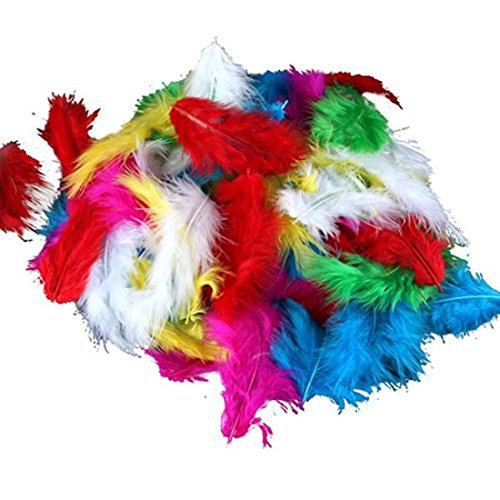 120pcs couleurs assorties Jolie mariage de plume Turquie Plume Poulet court Plumage Beauté