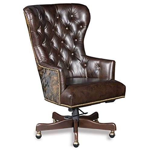 Hooker Furniture Katherine Leather Office Chair in Brown